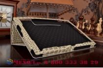 "Фирменный чехол-футляр для Sony Xperia Z4 Tablet SGP712/SGP771 10.1"" лаковая кожа крокодила серый"