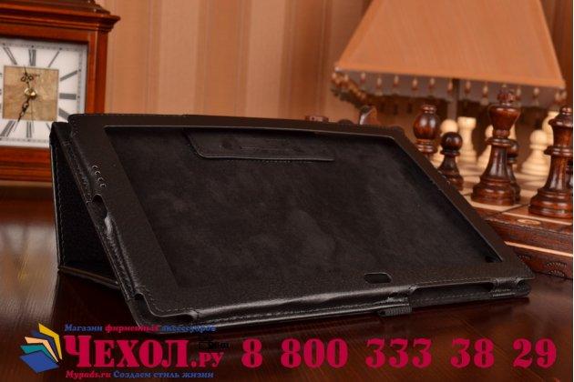 """Фирменный оригинальный чехол обложка с подставкой для Sony Xperia Z4 Tablet SGP712/SGP771 10.1"""" черный кожаный"""