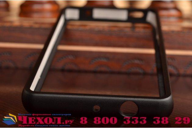 Фирменный оригинальный ультра-тонкий чехол-бампер для Sony Xperia Z4 Compact черный металлический