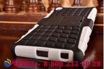 Противоударный усиленный ударопрочный фирменный чехол-бампер-пенал для Sony Xperia Z4 белый