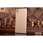 Фирменная задняя панель-крышка-накладка из тончайшего и прочного пластика для Sony Xperia Z4 /Z3+ золотая..