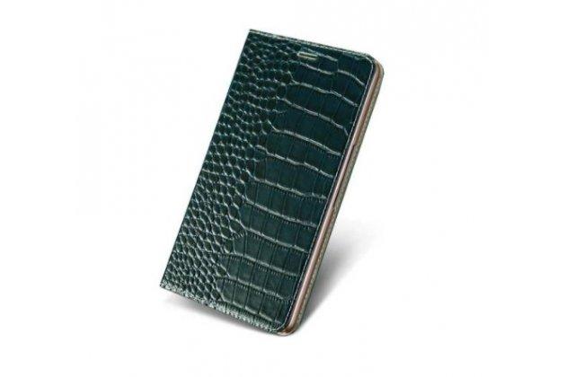 """Фирменный роскошный эксклюзивный чехол с изображением рельефа кожи крокодила черный для Sony Xperia Z5 compact E5803/E5823 4.6""""  . Только в нашем магазине. Количество ограничено"""