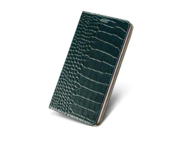 Фирменный роскошный эксклюзивный чехол с изображением рельефа кожи крокодила черный для Sony Xperia Z5 compact..