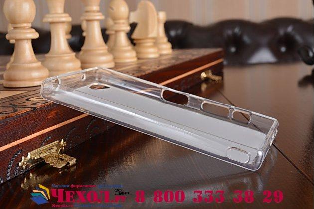 """Фирменная ультра-тонкая полимерная из мягкого качественного силикона задняя панель-чехол-накладка для  Sony Xperia Z5 compact E5803 E5823/Z5 Compact Premium  4.6""""  белая"""