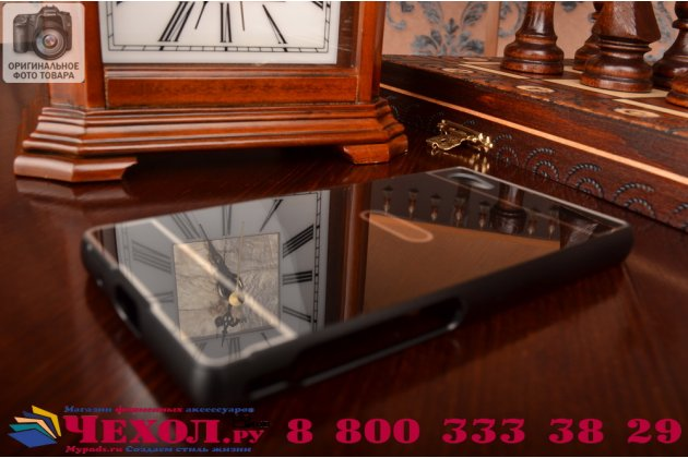 """Фирменная металлическая задняя панель-крышка-накладка из тончайшего облегченного авиационного алюминия для Sony Xperia Z5 compact E5803/ E5823/ Z5 Compact Premium 4.6"""" черная"""