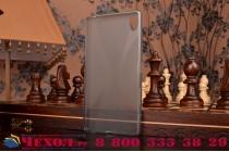 """Фирменная ультра-тонкая полимерная из мягкого качественного силикона задняя панель-чехол-накладка для  Sony Xperia Z5 Premium / Z5 Premium Dual E6853 / E6883/ Z5+ 5.5"""" серая"""