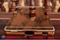 """Фирменная металлическая задняя панель-крышка-накладка из тончайшего облегченного авиационного алюминия для Sony Xperia Z5 Premium / Z5 Premium Dual E6853 / E6883 5.5"""" золотая"""