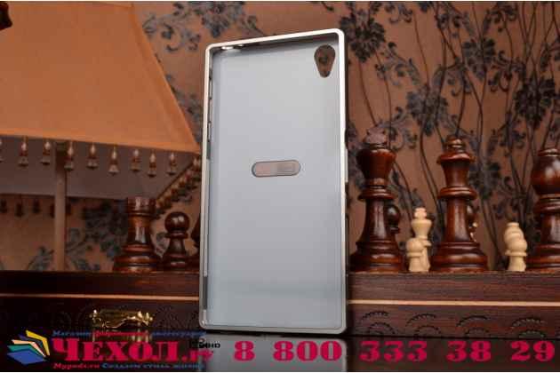 """Фирменная металлическая задняя панель-крышка-накладка из тончайшего облегченного авиационного алюминия для Sony Xperia Z5 Premium / Z5 Premium Dual E6853 / E6883 5.5"""" серебрянная"""
