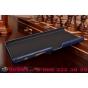 """Фирменная роскошная элитная премиальная задняя панель-крышка для Sony Xperia Z5 Premium / Z5 Premium Dual E6853 / E6883/ Z5+ 5.5"""" из качественной кожи буйвола с визитницей синяя"""