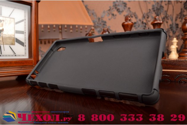 """Противоударный усиленный ударопрочный фирменный чехол-бампер-пенал для Sony Xperia Z5 Premium / Z5 Premium Dual E6853 / E6883/ Z5+ 5.5"""" черный"""