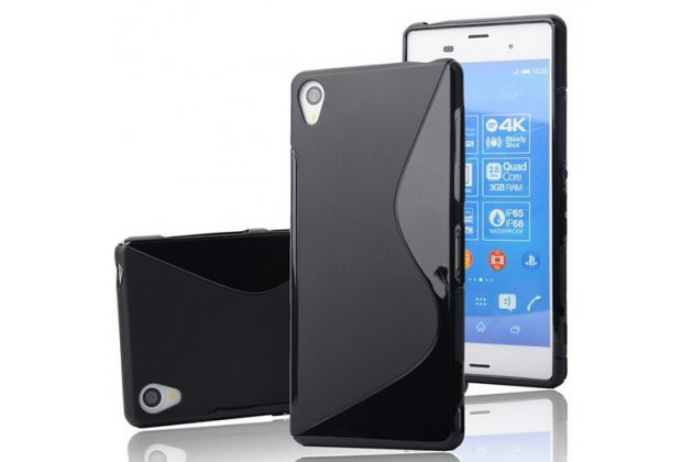 """Фирменная ультра-тонкая полимерная из мягкого качественного силикона задняя панель-чехол-накладка для  Sony Xperia Z5 Premium / Z5 Premium Dual E6853 / E6883/ Z5+ 5.5"""" черная"""