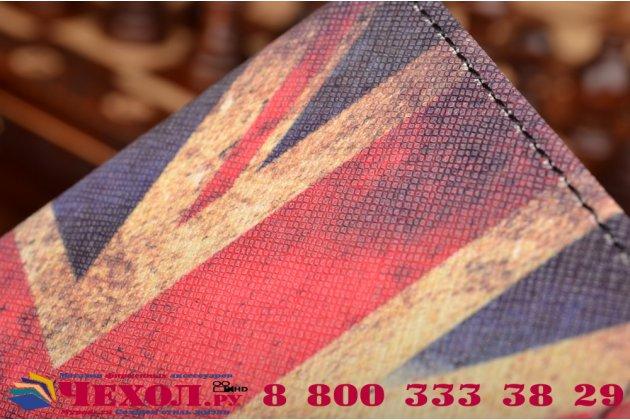 """Фирменный уникальный необычный чехол-книжка для Sony Xperia ZL (C6502) """"тематика британский флаг"""""""