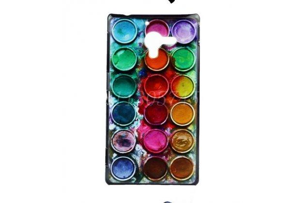 """Фирменная необычная уникальная пластиковая задняя панель-чехол-накладка для Sony Xperia ZL (C6502) """"тематика краски"""""""