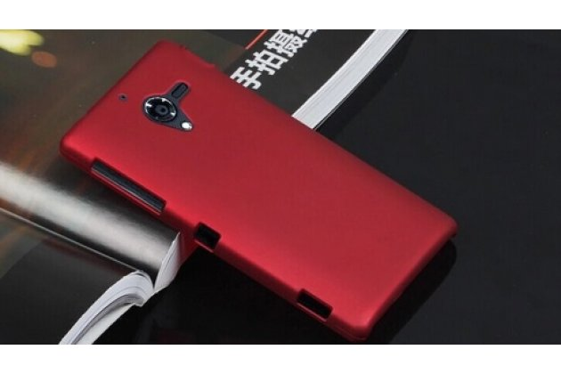 Фирменная задняя панель-крышка-накладка  из тончайшего и прочного пластика для Sony Xperia ZL (C6502) красная