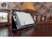 Фирменный чехол обложка для Sony Xperia Tablet Z3 Compact черный кожаный..
