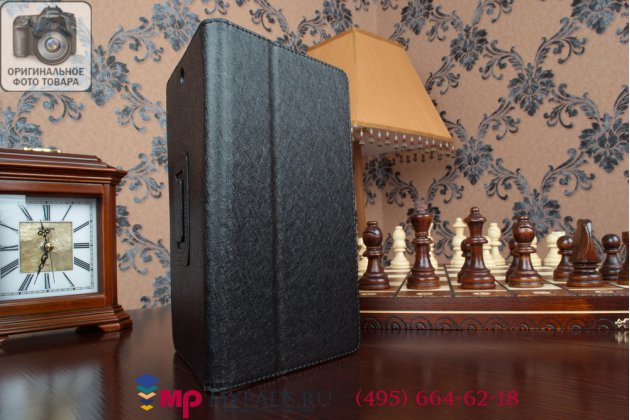Фирменный чехол обложка для Sony Xperia Tablet Z3 Compact черный кожаный