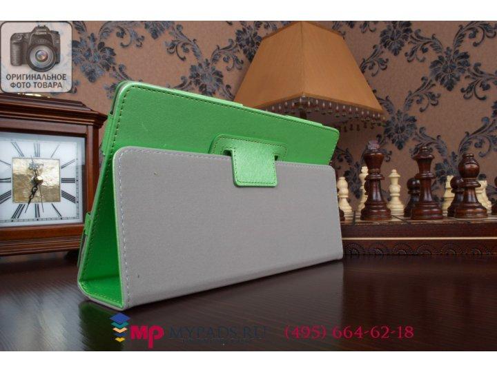 Фирменный оригинальный чехол обложка для Sony Xperia Z3 Tablet Compact (SPG611/SGP621RU) салатовый кожаный..