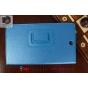 Фирменный оригинальный чехол обложка для Sony Xperia Z3 Tablet Compact (SPG611/SGP621RU) голубой кожаный..