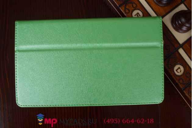Фирменный оригинальный чехол обложка для Sony Xperia Z3 Tablet Compact (SPG611/SGP621RU) салатовый кожаный