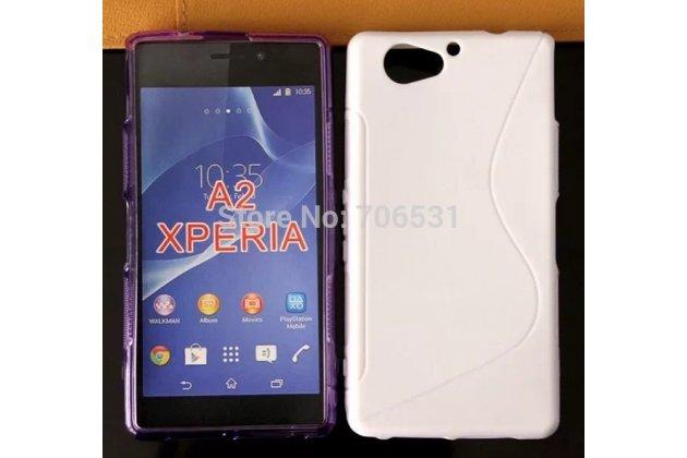 Фирменная ультра-тонкая полимерная из мягкого качественного силикона задняя панель-чехол-накладка для Sony Xperia A2 (Z2 compact) белая