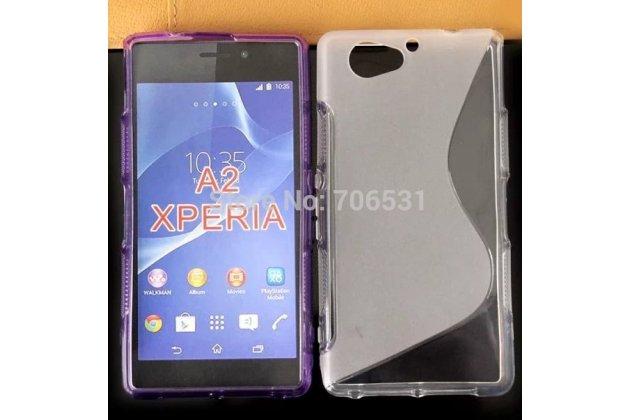 Фирменная ультра-тонкая полимерная из мягкого качественного силикона задняя панель-чехол-накладка для Sony Xperia A2 (Z2 compact) серая