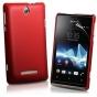 Фирменная задняя панель-крышка-накладка из тончайшего и прочного пластика для Sony Xperia E Dual C1605 красная..