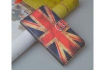 """Фирменный уникальный необычный чехол-книжка для Sony Xperia M1/Xperia M Dual С1905 """"тематика британский флаг"""""""