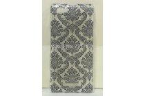 Фирменная роскошная задняя панель-чехол-накладка с расписным узором для Sony Xperia M1/Xperia M Dual С1905 прозрачная черная