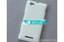 Фирменная задняя панель-крышка-накладка из тончайшего и прочного пластика для Sony Xperia M1/Xperia M Dual С1905 белая