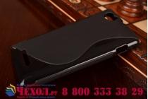 Фирменная ультра-тонкая полимерная из мягкого качественного силикона задняя панель-чехол-накладка для Sony Xperia M1/Xperia M Dual С1905 черная