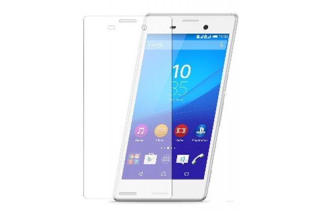 Фирменная оригинальная защитная пленка для телефона Sony Xperia M4 Aqua E2303/E2306/E2312/E2333 глянцевая
