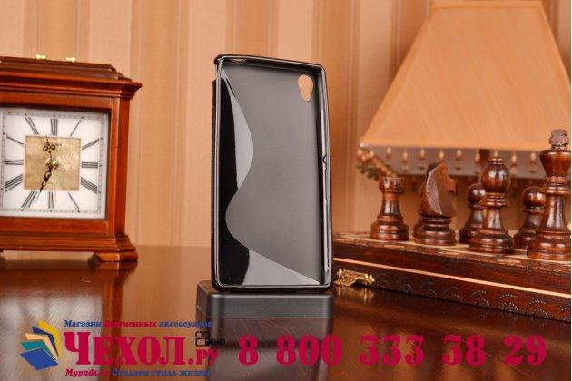Фирменная ультра-тонкая полимерная из мягкого качественного силикона задняя панель-чехол-накладка для Sony Xperia M4 Aqua/Aqua Dual черная