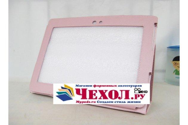 Чехол-обложка для Sony Tablet S розовый кожаный