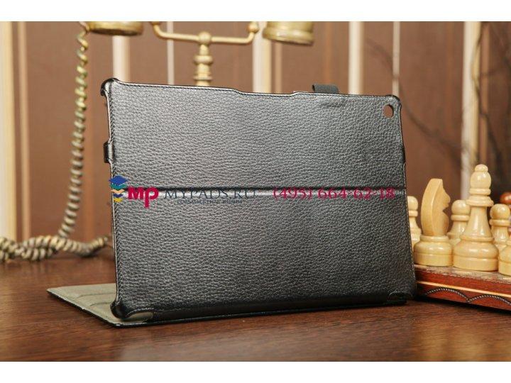 Фирменный чехол для Sony Xperia Tablet Z с мульти-подставкой и держателем для руки черный кожаный