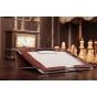 """Чехол-обложка для Sony Xperia Tablet Z с визитницей и держателем для руки коричневый кожаный """"Prestige"""" Италия"""