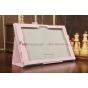 """Чехол-обложка для Sony Xperia Tablet Z с визитницей и держателем для руки розовый кожаный """"Prestige"""" Италия"""