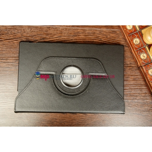 Чехол для Sony Xperia Tablet Z поворотный роторный оборотный черный кожаный