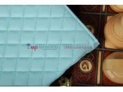 Сгёганая кожа в ромбик с узором чехол-обложка для Sony Xperia Tablet Z цвет морской волны кожаный..