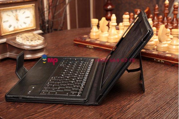 Фирменный чехол со съёмной Bluetooth-клавиатурой для Sony Xperia Tablet Z2 (SGP511/512/521) черный кожаный + гарантия