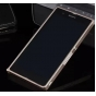 Фирменный оригинальный ультра-тонкий чехол-бампер для Sony Xperia Z C6602/C6603 (L36h) золотой металлический..