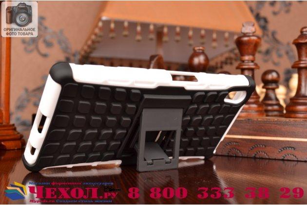 Противоударный усиленный ударопрочный фирменный чехол-бампер-пенал для Sony Xperia Z5 / Z5 Dual Sim E6603/E6633 5.2 белый