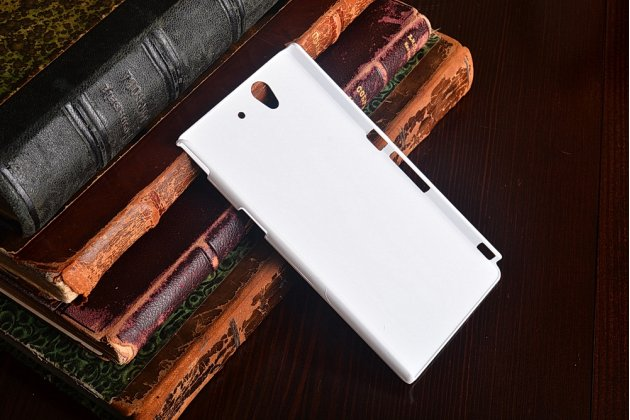 Фирменная задняя панель-крышка-накладка из тончайшего и прочного пластика для Sony Xperia Z C6602/C6603 (L36h) белая