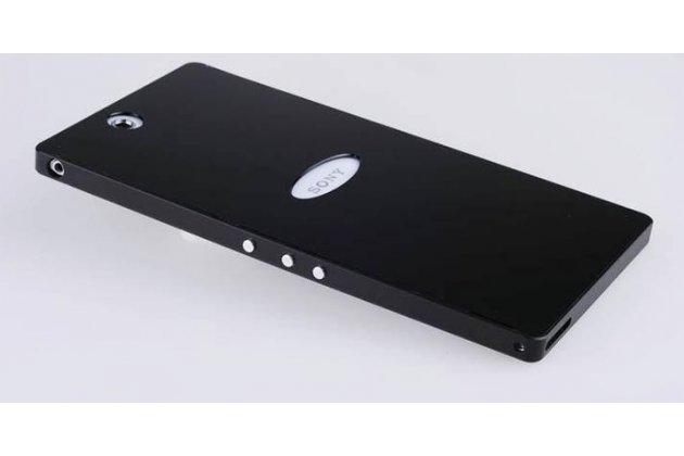 Фирменная металлическая задняя панель-крышка-накладка из тончайшего облегченного авиационного алюминия для Sony Xperia Z Ultra C6802/C6833 черная
