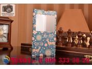 Фирменный чехол-книжка с безумно красивым расписным рисунком Оленя в цветах на Sony Xperia Z Ultra C6802/C6833..