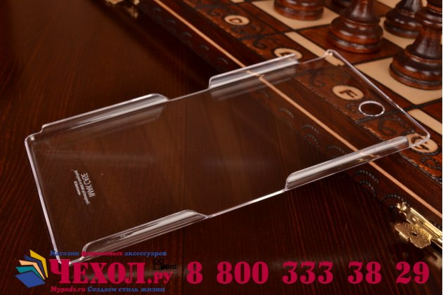 Фирменная ультра-тонкая пластиковая задняя панель-чехол-накладка для Sony Xperia Z Ultra C6802/C6833 прозрачная