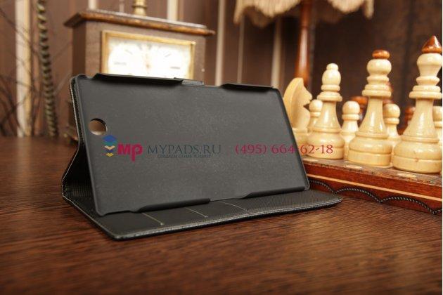 Чехол-обложка для Sony Xperia Z Ultra черный кожаный