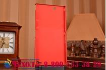 Фирменная задняя панель-крышка-накладка из тончайшего и прочного пластика для Sony Xperia Z Ultra C6802/C6833 красная