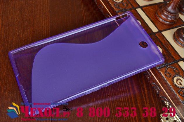 Фирменная ультра-тонкая полимерная из мягкого качественного силикона задняя панель-чехол-накладка для Sony Xperia Z Ultra C6802/C6833 фиолетовая