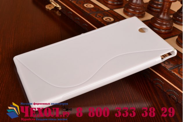 Фирменная ультра-тонкая полимерная из мягкого качественного силикона задняя панель-чехол-накладка для Sony Xperia Z Ultra C6802/C6833 белая