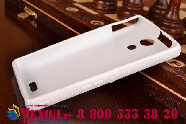 Фирменная ультра-тонкая полимерная из мягкого качественного силикона задняя панель-чехол-накладка для Sony Xperia ZR /ZR LTE C5502/C5503 белая